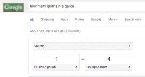 Example of Google Knowledge Box
