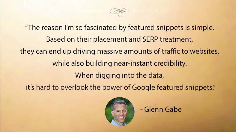 Featured Snippets Drive Massive Amounts of Web Traffic says Glenn Gabe