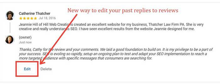 Google My Business Admins Can Edit Review Replies from the Knowledge Panel