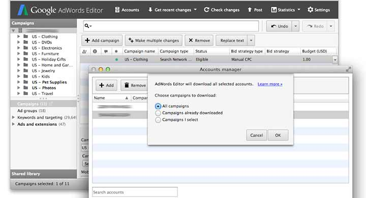 Best Features in Google Adwords Editor