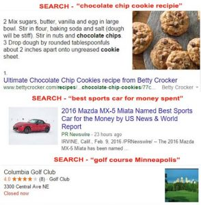 rich snippets show key information in SERP