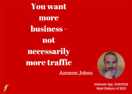 Need for more business conversions not necessarily more AdWords traffic