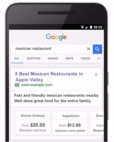 Google Adds Swipeable Cards Showing Product Price Ranges