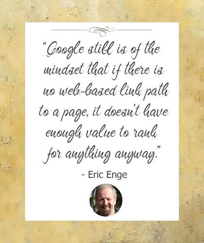 Mobile search ranking factors-quote by Eric Enge of Stone Temple