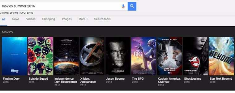 What Google Rich Cards Look Like in Google Carousel