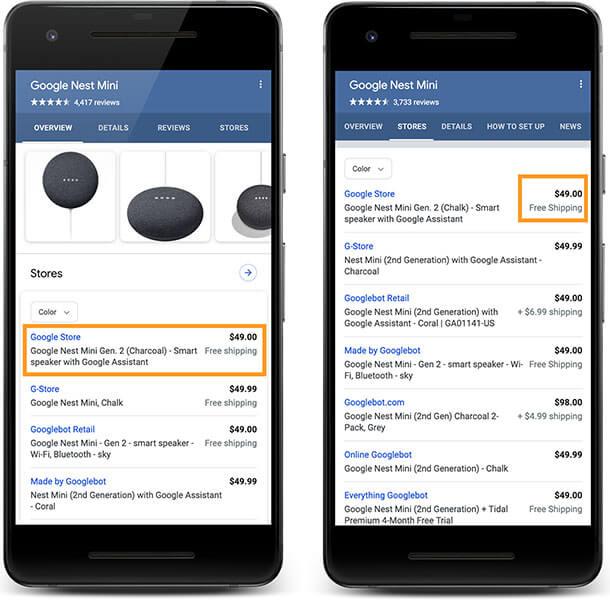 Product Schema Enhancements - image source: Google