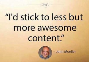 Business Sites Must Offer What Consumers Prefer - More Awesome Content says John Mueller