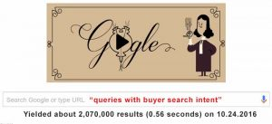 user conceptual search: information about queries with buyers search intent