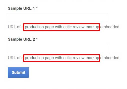 Knowledge Panel Google Critic Reviews and Review Snippets Application Form