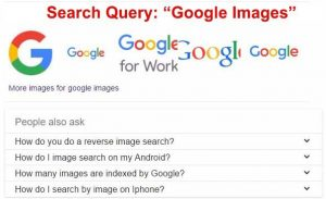 "Google answer boxes for query ""Google images"""