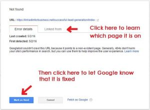 How to use the Google Search console to fix crawl errors