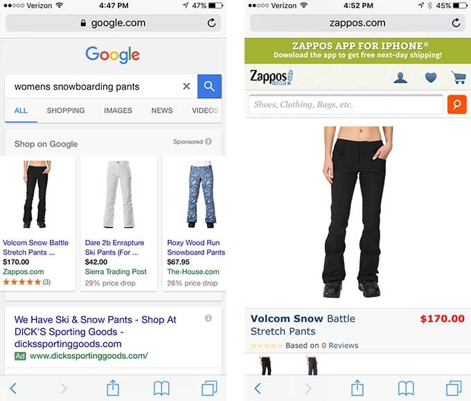 Optimize your website and AdWords landing pages for mobile