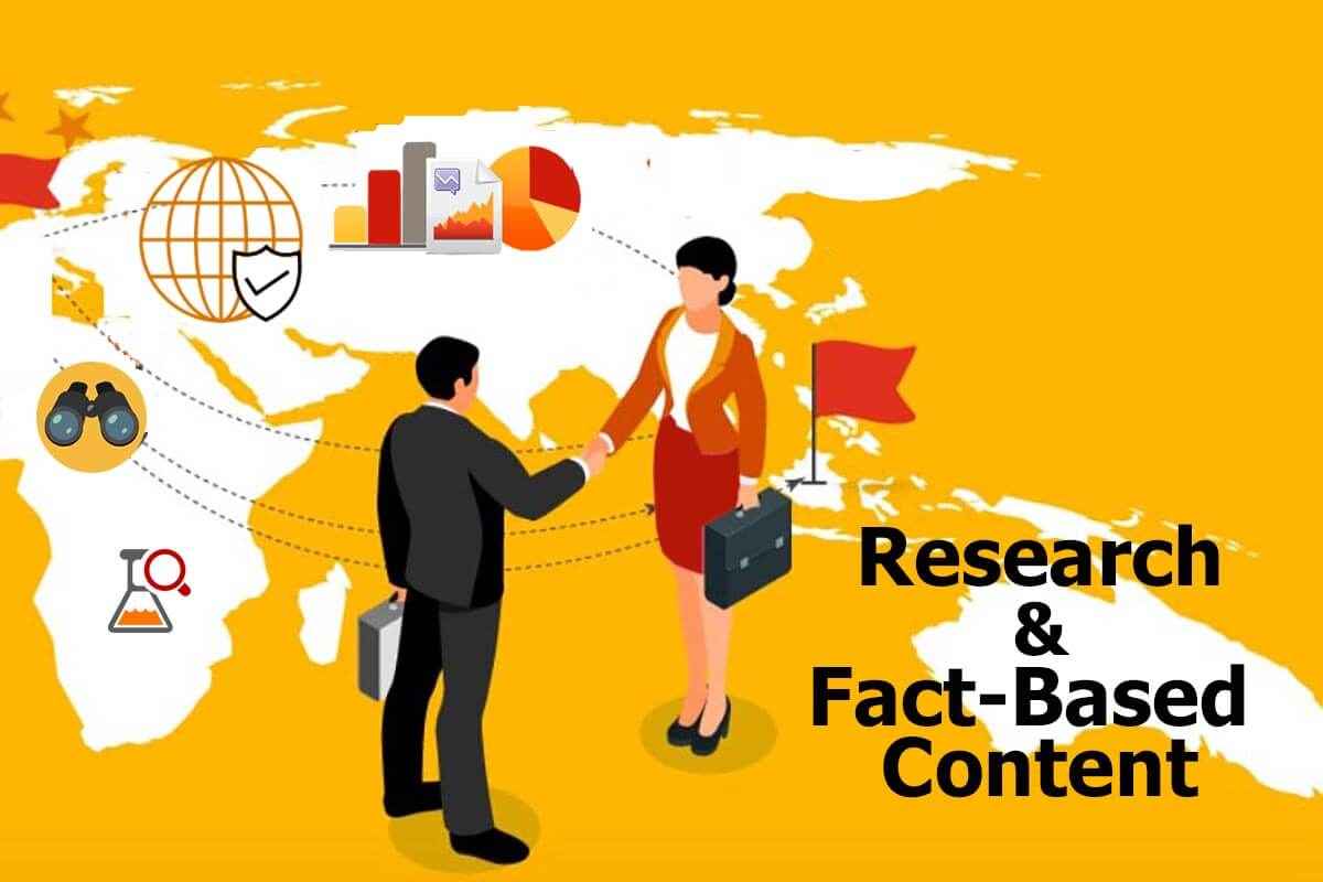 Creating fact and research based web content