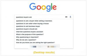 How to find user's questions in Google auto-complete search on desktop