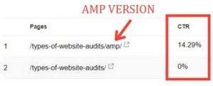 AMP pages convert better than desktop