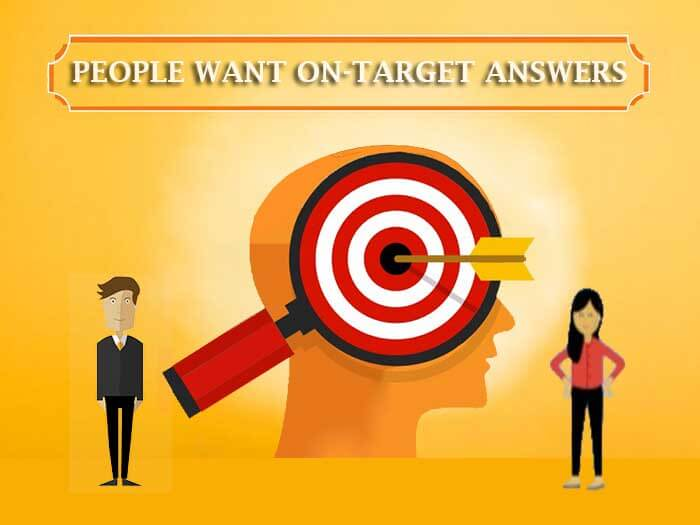 People want on-target answers by HillWeb Marketing