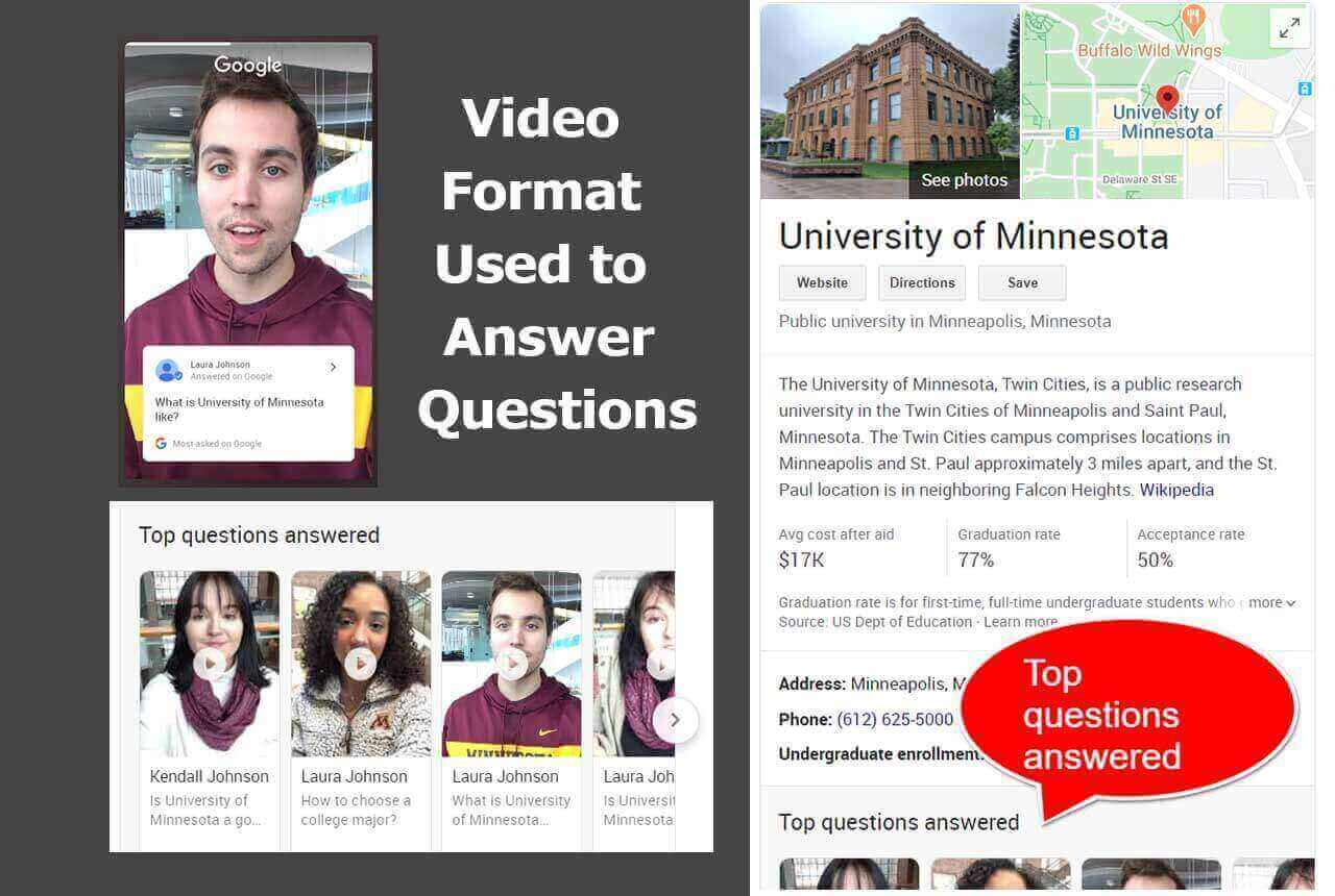 What are Questions in Search are Answered with Video Content?