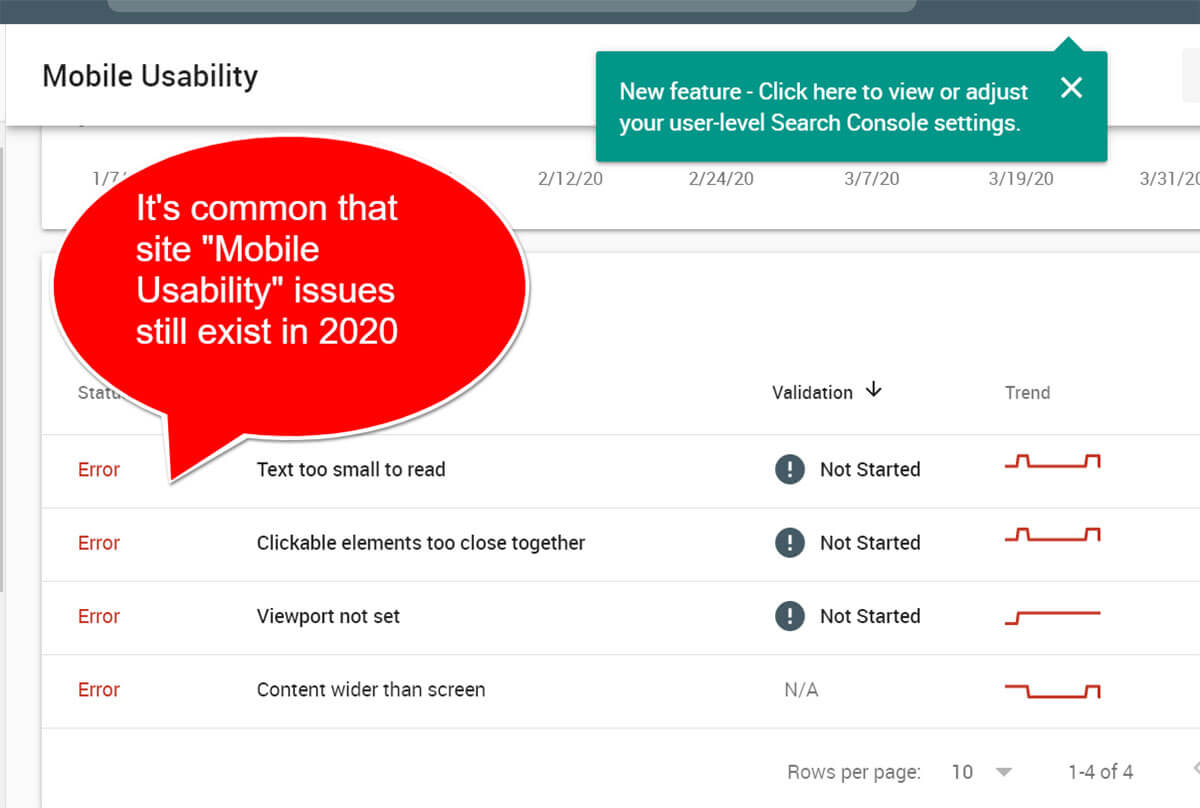 How to fix mobile usability issues using Google Search Console reports
