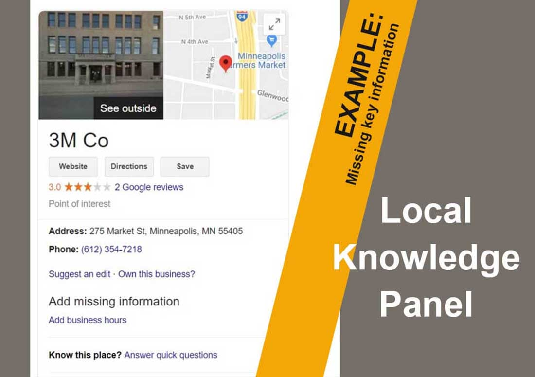 Google Local Knowledge Graphs and Panels
