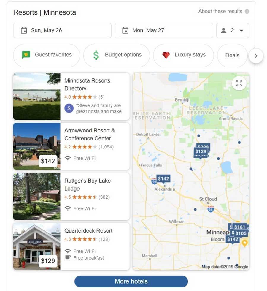 Google Local Maps Pack Carousel