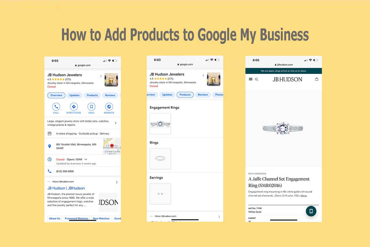 How to add Google My Business Products